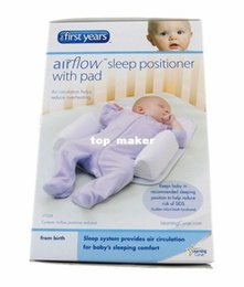 Wholesale Vented Sleep Positioner - 4sets lot Newborn Pillow Positioner The first Years 1st Baby Sleep Anti-roll Head Support Toddler Ultimate Vent Fixed System Travel Friends