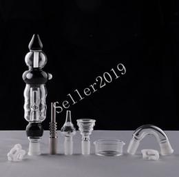 2019 vetro unità 2016 Nectar Collector Set Aggiornato Honey Straw Unit Vetro Piatto Quartz Nail Titanium Nail Glass Bong Spedizione gratuita vetro unità economici