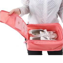 spielkartenabdeckung Rabatt Neue Mode Nylon Mesh Travel Portable Tote Schuhe Beutel wasserdichte Aufbewahrungstasche 6 Farben