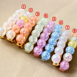 Wholesale Clip Beads For Hair - Mix color Acrylic Beads Hair Accessories spring Hair Clip New Brand colorful Spring Clips Hair Jewelry for kids and adult ha01