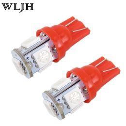 Wholesale Fusion Plate - WLJH led light T10 Led 5050 5 smd Licence Wedge lamp DC12V car lighting side light auto wedge light bulb width auto lamp