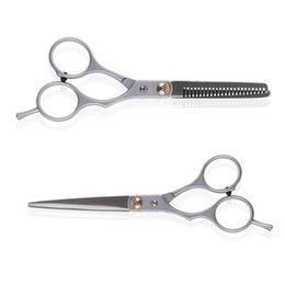 Wholesale Cutting Hair Pinking Shears - S5Q 2X Professional Barber Hair Cutting Thinning Scissor Shears Hairdressing Set AAEIJ