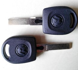 Wholesale Vw Key Shell - Best price for VW transponder key blank shell 30pcs lot free shipping