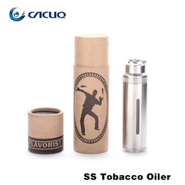 Wholesale E Cigarette Stainless Bottle - E Cigarette e liquid Bottles Stainless Steel 10ml Capacity Needle Bottles Snap Hook Portability SS Tobacco Oiler from Cacuq