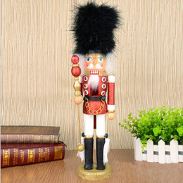 Wholesale Christmas Nutcracker Ornaments - Wholesale-D336 Free shipping 46CM color pink nutcracker soldier ornaments, hand-painted walnuts, Christmas gifts 2pcs lot