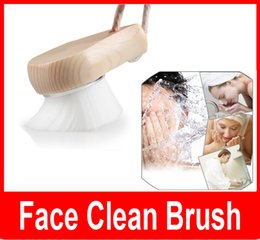 Wholesale Deep Pore Brush Head - Soft Facial Fiber Mild Face Clean Wash Deep Pore Cleansing Brush Sandalwood Head Nature Massager Brush Hands Body Skin