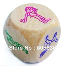 Wholesale Wood Sex Toys - Wholesale-100pcs lot Sex Funny Adult Love Sexy Romance wood Dice Pipe Erotic Craps Toy Free Shipping