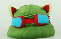 Wholesale League Legends Hats - 1pc lot League of Legends LOL Teemo Hat Army Green Cap DressUp Cosplay Gift