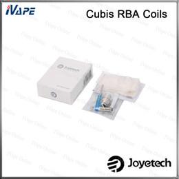 joyetech cubis Desconto Joyetech Cubis BF Cabeça RBA 100% Original Joyetech RBA Bobinas Set DIY Para Cubis sub ohm Tank Atomizer