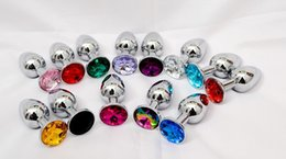 Wholesale Metal Mini Anal Toys - Free Shipping Metal Mini Anal plug Butt Booty Beads Sex Toys Stainless Steel Crystal Jewelry Sex products adult products Small Size 50pcs