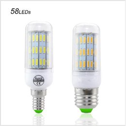 Wholesale Chip Protect - Best Selling No Flicker Protect Eyesight Health LED lamp E14 E27 3W 5W 6W 7W Corn Light 7020 SMD Chip 85-265V Bulb Lamp 58 70 86 126LEDs