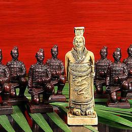 Juegos de ajedrez chinos online-Juego de ajedrez chino extra grande barato al por mayor de 32 piezas / Xian Terracota Warrior