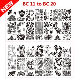 Wholesale Laced Nail Stamp Designs - Wholesale- 2016 New Lace Flowers Butterfly Designs Nail Art Stamping Plates 10pcs Stainless Steel DIY Polish Printing Nail Template Tools
