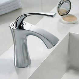 Wholesale Bathroom Ceramic - Freeshipping B&R New Modern Chrome Single Lever Kitchen Bathroom Sink Basin Mixer Tap Faucet B-1085M