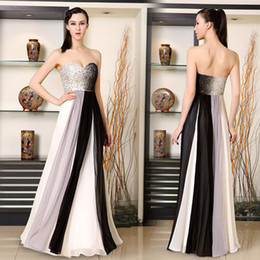 Wholesale Ombre Beaded Prom Dresses - Long Evening Prom Dress 2016 New Fashion Strapless Sequined Bust Ombre Ladies