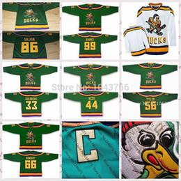 Wholesale Movie Cups - 2017 Stanley Cup Playoffs Mighty Ducks Movie 86 Shjon 99 Banks 33 Goldberg 44 Reed 56 Tyler Bombay Green Men Women kids Blank custom jerseys