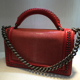 Wholesale Yellow Bow Ring - Women Satchel Shoulder Bag Genuine Leather Female Handbag Chain Suede Leather Ring Bag Superstar real stingray leather Crossbody Bag