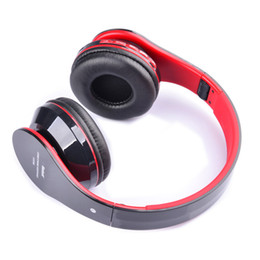 Wholesale Iphone Ipad Bluetooth - Wholesale-2015 Foldable Wireless Bluetooth Stereo Headphone Headset Mic FM TF Slot for iPhone iPad Smartphone AT-BT809