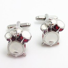 Wholesale Music Buckles - Cuff linksNew Music Series cufflinks drums wit styling French cuffs buckle Cufflinks for men and women Free Shipping