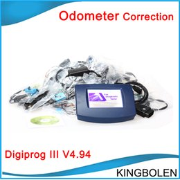 Wholesale Chevrolet Odometer Correction - In stock Hot selling Mileage changing tool Digiprog III V4.94 Digiprog 3 Odometer Correction Tool High quality with Free Shipping