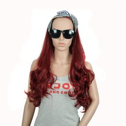 """Wholesale Cheap Synthetic Two Tone Wigs - Retail 30"""" 270g Synthetic Hair Half Wigs 3 4 Wig Ombre Cheap Hair Wig Two Tone Long Curly False Hair Heat Resistant Afro"""