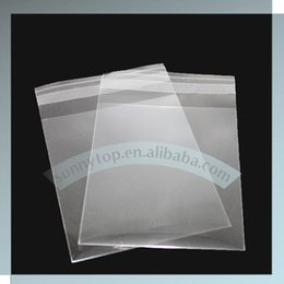 Wholesale Stripes Plastic Bag - Wholesale- custom size opp plastic bag with adhesive stripe cello bag cellophane bag