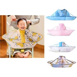 Wholesale Cutting Gowns Hairdressing - Kids Children Waterproof Hairdressing Bib Hair Cut Salon Hairstylist Barber Gown Cape Cloth S M