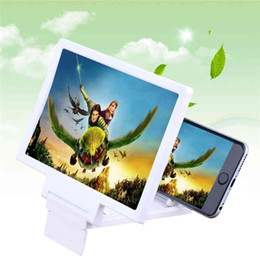 Wholesale Folding Magnifiers - 3D Enlarge Screen F1 Mobile Phone Screen Magnifier Amplifier With Stander Folding HD Expander Magnifiers Holders For Phone iPhone Samsung