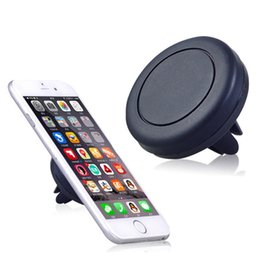 Wholesale Apple Outlets - 360 degree Bracket Car Magnetic Mount Holder Air Vent Outlet Universal for iphone 7 6s Samsung S6 HTC Blackberry