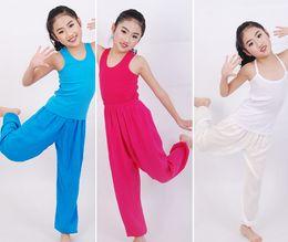 Wholesale Harem Dancing Pants Wholesale - Girls Pants Summer Children's Pants Candy Color Lantern Trousers Dance Pants Pyjama Trousers Comfortable Casual Pants 5 p l