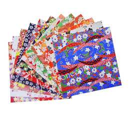 Wholesale Origami Japanese - Free shipping DIY Washi paper Japanese paper for origami crafts scrapbooking - 14 x 14cm 200pcs lot LA0068 wholesale