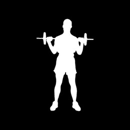 Wholesale Door Trainer - Wholesale Car Stickers Wholesale Weight Lifting Sticker Gym Trainer Bench Workout For Car Window Decal