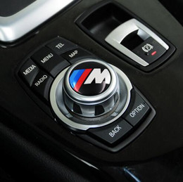 Wholesale Car Modify - Car styling 29mm Multimedia audio control buttons labeled labeling interior decoration car stickers modified fit for bmw Aluminum