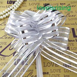Wholesale Christmas Pull Bows Wholesale - 13 Colors U Pick-- 50pcs lot 5cm Large Size Organza Pull Bow Wedding Car Decoration Christmas Favor Ribbons Bows Decor