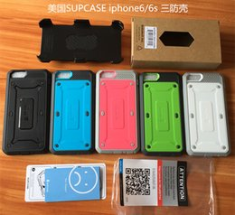 Wholesale Hybrid Cell Phone Cases Wholesale - Supcase Hybrid Shockproof Armor Tough Cell Phone Case Back Cover Protector iphone 7 iphone 6s plus S6 edge plus phone case with clip