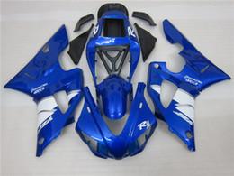 Wholesale yamaha r1 custom fairings - 4 Free Gifts New custom bodywork fairings for YAMAHA 1998 1999 YZF-R1 98 99 YZFR1 98 99 YZF R1 YZFR1000 blue white ABS fairing