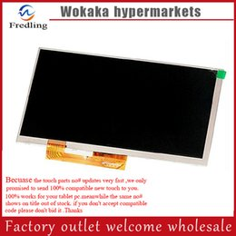 """Wholesale Ree Shipping - Wholesale- New LCD Display Matrix for 7"""" Irbis TZ55 3G   Supra M74KG TABLET 1024*600 LCD Screen Panel Replacement Module ree Shipping"""