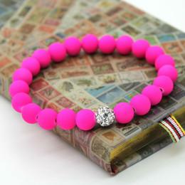 Wholesale Fluorescent Beads - Wholesale-Free Shipping! Fashion Girl's Bracelet Pink Fluorescent Neon Beads Green Jewelry 3pcs lot