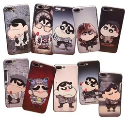 Wholesale Small Chinese Phone - For 7 8 plus cell phone cases with 6s Crayon Small new mobile phone case mobile phone accessories wholesale protective cover new