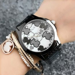 Wholesale Steel Bear - Fashion TO Bear style Brand Women's Girls dial Stainless steel band Quartz wrist Watch T40