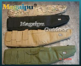 Wholesale Airsoft Hand Gun - magaipuoutdoor 4 Magazine Pouches Tactical 911 Airsoft Hunting Shooting Short Gun Rifle Cushion Padded Slip Hand Carry Strap Bag
