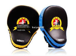 fighting training gear Promo Codes - Hot Sale Muay Thai MMA Boxing Gloves Sandbag Punch Pads Hand Target Focus Training Circular Mitts for Kick Fighting