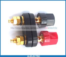 Wholesale Gold Plated Binding Posts - 8pcs Gold Plated Double Binding Post for 4mm Banana Plug Speaker Power Amplifier