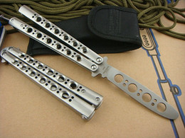 Wholesale Folding Box Spring - Benchmade Butterfly BM40 Training Smooth Playing Balisong Spring Latch tactical Outdoor gift knife knives new in original box