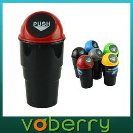 Wholesale Dust Bin Car - New NEW car garbage can Car Trash Can Garbage Dust Case Holder Bin best deal 1pcs