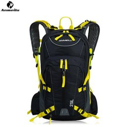 Wholesale Backpack Rain Cover Bag - ANMEILU 25L Waterproof Sports Bag Outdoor Camping Hiking Climbing Bag Travel Cycling Backpack Hydration With Rain Cover