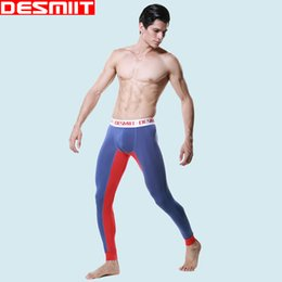 Wholesale mens thermal winter underwear - High Quality Brand DESMIIT Winter Long Johns to keep Warm Thermal underwear for men Thermo Mens Leggings Assorted colors M L XL