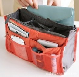 Wholesale Travel Insert Pockets - Women Travel Insert Handbag Purse Large liner Organizer Bag Storage Bags Amazing 2015 handbags(050012)