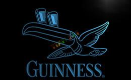 Wholesale Guinness Beer Commercial - LA012-TM Guinness Toucan Beer Bar Pub Club Neon Light Sign. Advertising. led panel.jpg