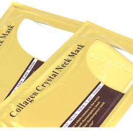 Neck Mask 36 piezas / lote Colágeno Bionic Crystal Neck Mask 2 colores Polvo en forma de círculo Hidratante 260 * 140 mm desde fabricantes